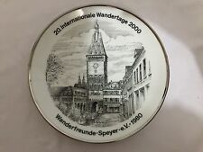 GERMANY 16. Internationale Wandertage 1996 PLATE / Wanderfreunde-Speyer-eV-1980