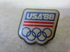 Official USA '88 Olympic Lapel Pin, Tie Tack, Hat Pin, Enamel and Goldtone