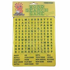 Baby Shower Word Search Game Baby Shower Party Games Kids Fun - for 12 players