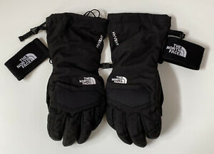 The North Face Hyvent Black Winter Gloves Mens Small Drawstring Sking Snowboard