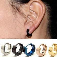 1 Pair Titanium Steel Unique Small Hoop Earrings for Men Women Huggie Earrings