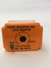 DIVERSIFIED ELECTRONICS SLA-230-ASA PHASE SEQUENCE AND LOSS MONITOR 190-270VAC