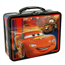 Disney CARS LIGHTNING MCQUEEN MATER Tin Lunch Box CARRY ALL Toy Crayons Case Bag