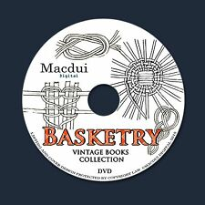 Basketry - How to make baskets, Seat weaving 45 ebooks PDF on 1 DVD Basketmaking