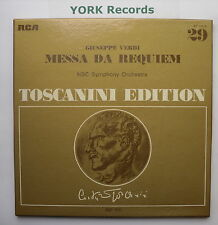AT 201 - VERDI - Messa Da Requiem TOSCANINI NBC SO - Ex Con 2 LP Record Set