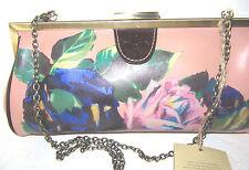 Patricia Nash Floral Pink Royal Blue Green Flowers Framed Satchel Bag NWT $149