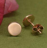 18k Rose Gold Vermeil Circle Dot Minimalist Simple Modern Stud Post Earrings