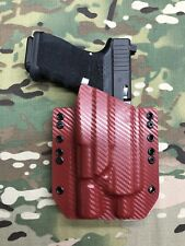 Red Carbon Fiber Kydex Holster Glock 19/23 Threaded Barrel Surefire X300 Ultra A