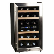 Koldfront 18 Bottle Free Standing Dual Zone Wine & Beverage Cooler- Wooden shelf