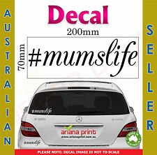 #mumslife Decal NEW Vinyl Cut