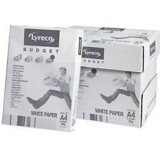 A4 80gsm LYRECO presupuesto Blanco Caja de papel de 5 montones Courier Gratis Entrega al día siguiente