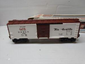O SCALE Lionel 6-9406 Denver and Rio Grande Western Cookie Box Boxcar