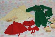 """Vintage Lot Knitted Mary Hoyer Clothes Boots And Shoes For 14"""" Mary Hoyer Doll"""