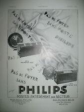 PUBLICITE DE PRESSE PHILIPS POSTE RADIO HAUT-PARLEUR ILLUSTRATION THIRION 1930