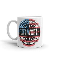 Fort Worth USA Amérique haute qualité 10 oz (environ 283.49 g) Café Thé Tasse #6056