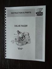 Kwik Way EVS Valve Grinder Instruction & Parts Manual