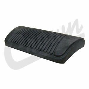 Crown Brake Pedal Pad Black for 07-18 Jeep Wrangler JK / 10-20 Dodge Charger