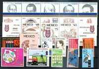 MEXICO 13 DIFFERENT COMPLETE SETS, MNH, VF