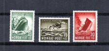 WWII GERMAN OCC OF NORWAY 1944 SCOTT# B35-B37 ALLIES SINK NORWEGIAN SHIPS. MNH.