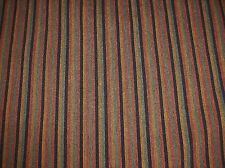 "Rust/Gold/Black/Green Striped 56"" Wide Upholstery Fabric - Sold by the Yard"