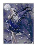Purple Fairy w/ Butterflies DIGITAL Counted Cross Stitch Pattern Needlepoint