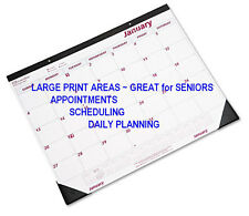 rf LARGE PRINT 2018 Wall Desk Calendar 12 Month appointment planner daily office