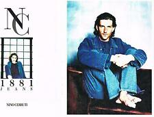 PUBLICITE ADVERTISING  1995    NINO CERRUTI 1881  JEANS (2 pages)
