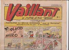 VAILLANT n°124  du 25 septembre 1947 - TBE