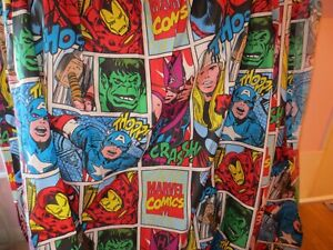 Marvel Comics Curtains, 65 inches x 72inches