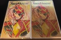 POWER RANGERS #1 2020 PEACH MOMOKO 1:25 AND LCSD FOIL VARIANTS BOOM STUDIOS