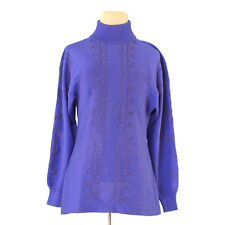 Auth GIANNI VERSACE knit turtle ladies used T1019