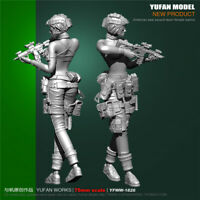 1/24 US Seal Assault Female Soldier Resin Model Kits Unpainted Figure YuFan 75mm