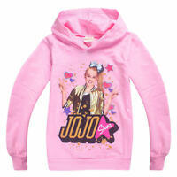 Jojo Siwa Hoodie Tops Shirt Cute  Pullover Long Sleeve Sweatshirt Kids Girl New