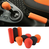 1PC For Benz Smart Silicone Gear Head Shift Knob Cover Handbrake Case Fortwo
