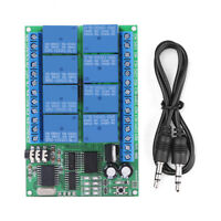 DC 12V 8CH DTMF Relay Phone Voice Decoder Remote Controller Switch Module IS