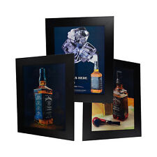 3 Dimension 3D Lenticular Picture Jack Daniel's Bottle Glasses Smoke Pipe