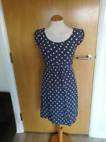 Ladies MONSOON Dress Size 10 Grey Spotted Mini Smart Casual Day Party Summer