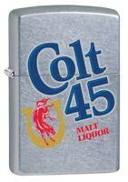 Zippo Lighter: Colt 45 Malt Liquor Logo - Street Chrome 80933