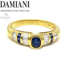 NYJEWEL Damiani 18k Yellow Gold 1ctw Sapphire & Diamond Ring