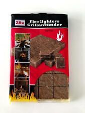 28 Anzündwürfel Kaminanzünder Kohle Anzünder BBQ Grillanzünder Ofenanzünder