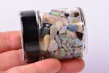 LIGHTNING RIDGE BLACK OPAL Big Jar Mineral Crystal Gem AUSTRALIA