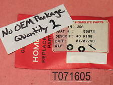 TWO Genuine!  HOMELITE 59074 90872 O-RING oiler Super EZ ao XL SXL 925 NOS! OEM!