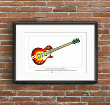 Pete Townshend's Gibson Les Paul #8 Limited Edition Fine Art Print A3 size