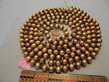 "Christmas Garland Mercury Glass Antique Gold 92"" Long 1/2"" Beads Ap12 Vintage"