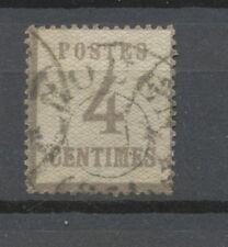ALSACE-LORRAINE N°3, 4c. gris-lilas Oblitéré, TB COTE 135€ P1818