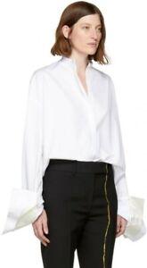 NWT Haider Ackermann Byron oversized stand-collar shirt - FR38 - $795