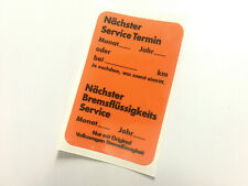 Mk1 Golf GTi Dealer Service Autocollant VW