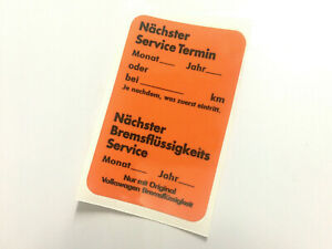 Mk1 Golf GTI Dealer Service Sticker Vw