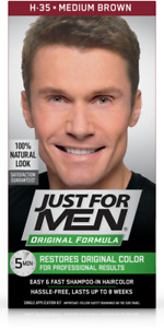 Just For Men Mens Shampoo Hair Colour Color Wash in Dye Medium Brown H35