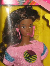FUNTIME  BLACK BARBIE--MINT IN BOX-1986-w/ REAL WATCH